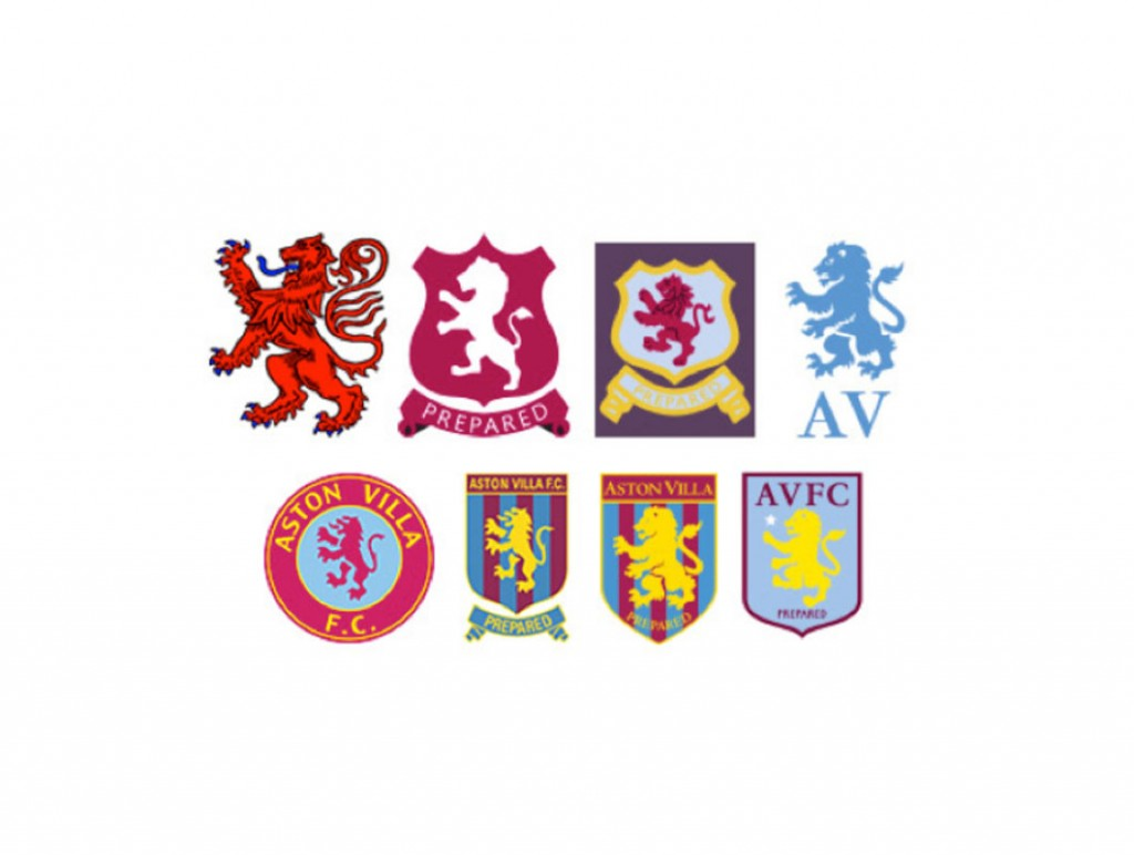Villa badges over the years